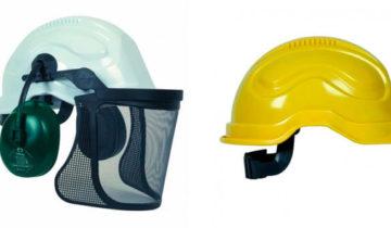 El casco de bombero forestal
