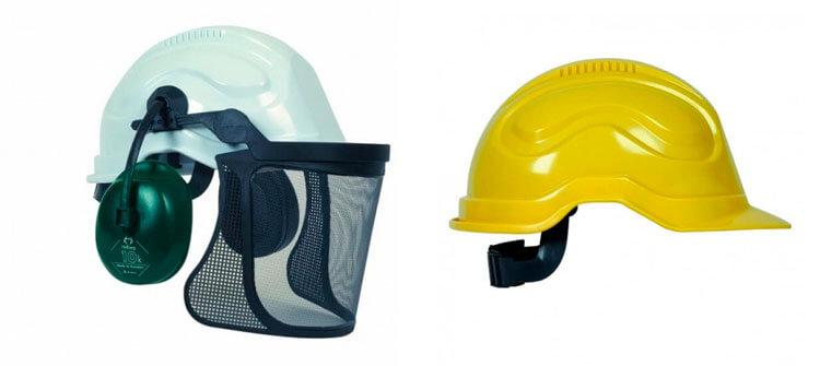 El casco bombero forestal